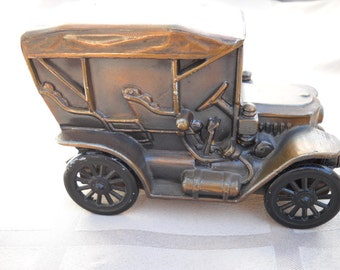 Vintage Banthrico Inc. 1910 Stanley Car Bank Made in Chicago, Illinois 1970s