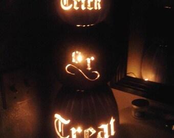 Trick or treat pumpkin topiary
