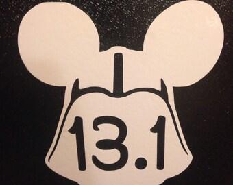 runDisney Star Wars Half Marathon Vinyl Decal