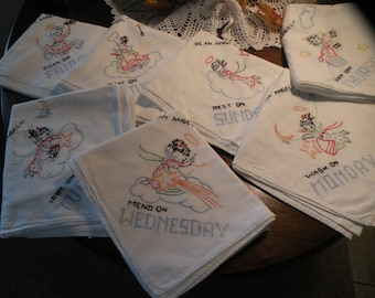 1940s Angel Days Of The Week Dishtowels**sale**79.00**reg 89.00***