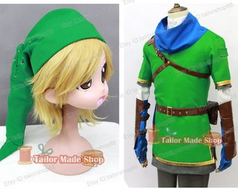 The Legend of Zelda Hyrule Warriors Link Hat Cosplay Green