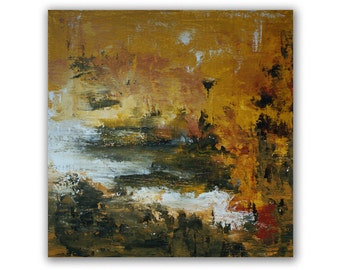 art  painting acrylic  original painting abstract landscape 12 x 12 pouces
