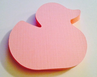"""Pink Baby Duck Die Cuts (2.75"""" wide), Light Pink Rubber Ducky Confetti, Duck Baby Shower Decor, Rubber Ducky Theme Birthday Decor"""