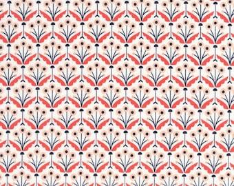 SALE Cloud 9 Fabrics *Wildwood - Pretty Posies* Coral