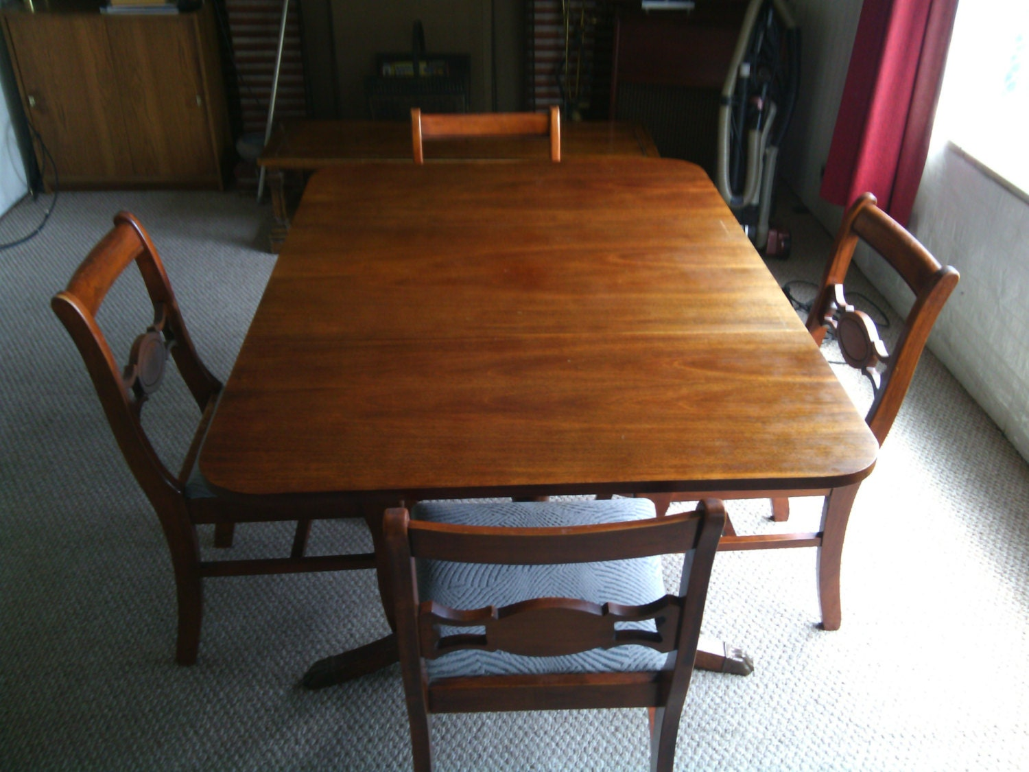 Antique Mahogany Drop Leaf Dining Table And 4 By DarylsCreations