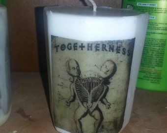 Togetherness Siamese twin candle