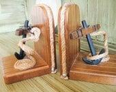 Vintage Nautical Anchor Bookends