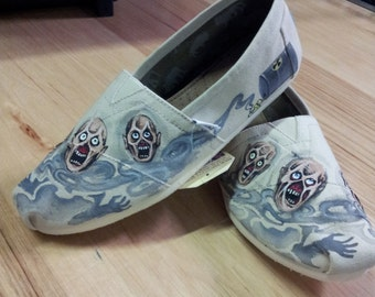 Toms Shoes Customized Toxic Zombies