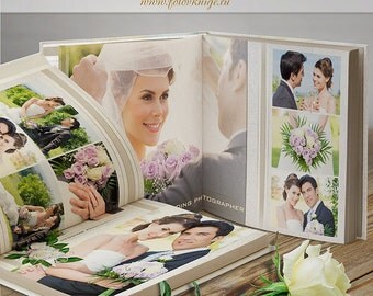 PHOTOBOOK - Wedding - photo book in classic style - Photoshop Templates for Photographers. 12x12 Photo Book/Album Template