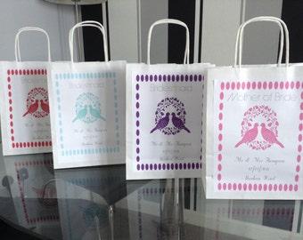 5x Personalised gift wedding bag