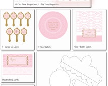 Pink and Gold Themed Birthday Party Printables Set - Birthday Party - Printable Labels - Printable Decorations, Costumes & Activities