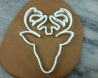 Deer Antlers Cookie Cutter - CHOOSE Your OWN SIZE - Fast Shipping!