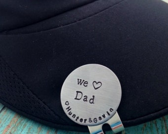 We love Dad Golf Ball Marker and Hat Clip Personalized Magnetic Golf Ball Marker