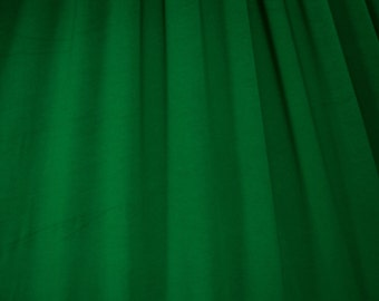 Green Cotton Lycra Solid Knit Jersey Fabric Four way Stretch Spandex Fabric by the Yard