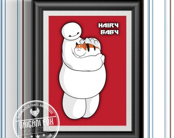 Baymax Hairy Baby Poster - Big Hero 6