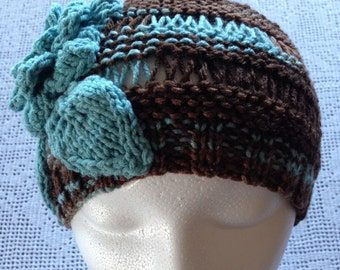 Airy Garter Earth and Sky knitted Woman's Hat