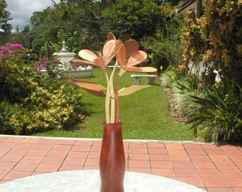 "Wooden flowers-""Cayennes""."