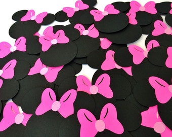 Minnie Mouse Die Cuts - Minnie Mouse Heads - Minnie Mouse Party - Minnie Mouse Cut Outs - Minnie Mouse Scrapbooking - Minnie Decor