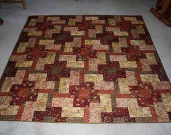 Modern Quilt Pattern - LOCOMOTION - 7 sizes