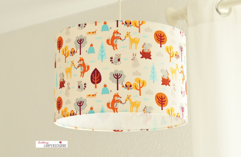 Paralume lampada bambini forest animals - Lampadari per camere ragazzi ...