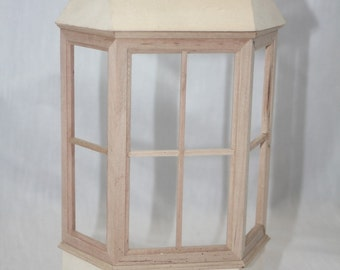 Miniature dollhouse 1:12 scale bay window unfinished building supply