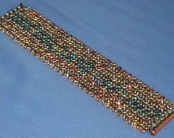 Hand Woven 7 X 1.5 inch Knit Duo Cuff Bracelet