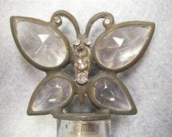 Glass butterfly vase