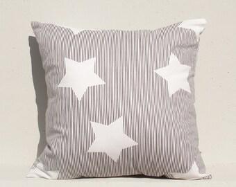 Decorative Pillow cover, Geometric Pillow Case, Kids Pillows Case, Gray Star Pillow Case