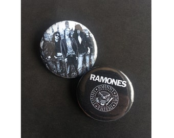 Set of 2 Ramones Pinback Buttons
