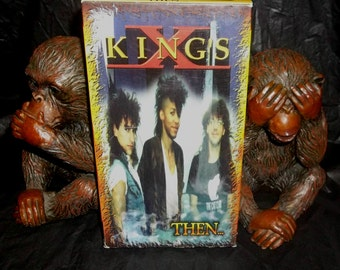 KING'S X  Then Rare Home Videos VHS Tape  Hard and Heavy Rock Power Trio from Katy Texas  Dug Pinnick