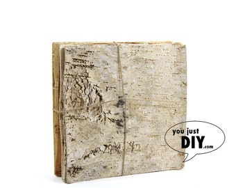 Square Birch Bark Sheets Placemats Vase Wrap Rustic Wedding Centerpieces