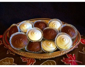 16 Homemade Belgian Chocolate Peanut Butter Cup Holiday Box