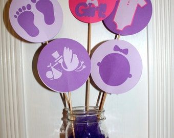 Baby Shower Circles Centerpiece