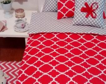 """Doll Bedding Set for American Girl AG Dolls 18"""" or smaller"""