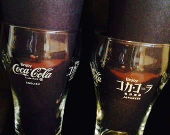Coca Cola Multi Foreign Language Chinese Japanese Hebrew Arabic Glasses