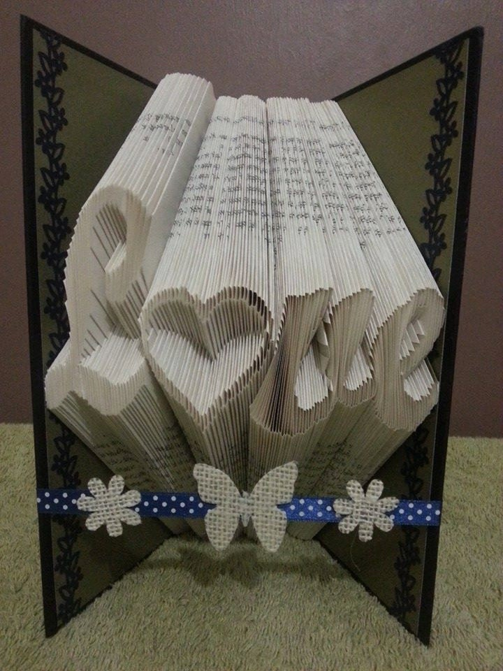 book folding pattern for love with an inverted. Black Bedroom Furniture Sets. Home Design Ideas