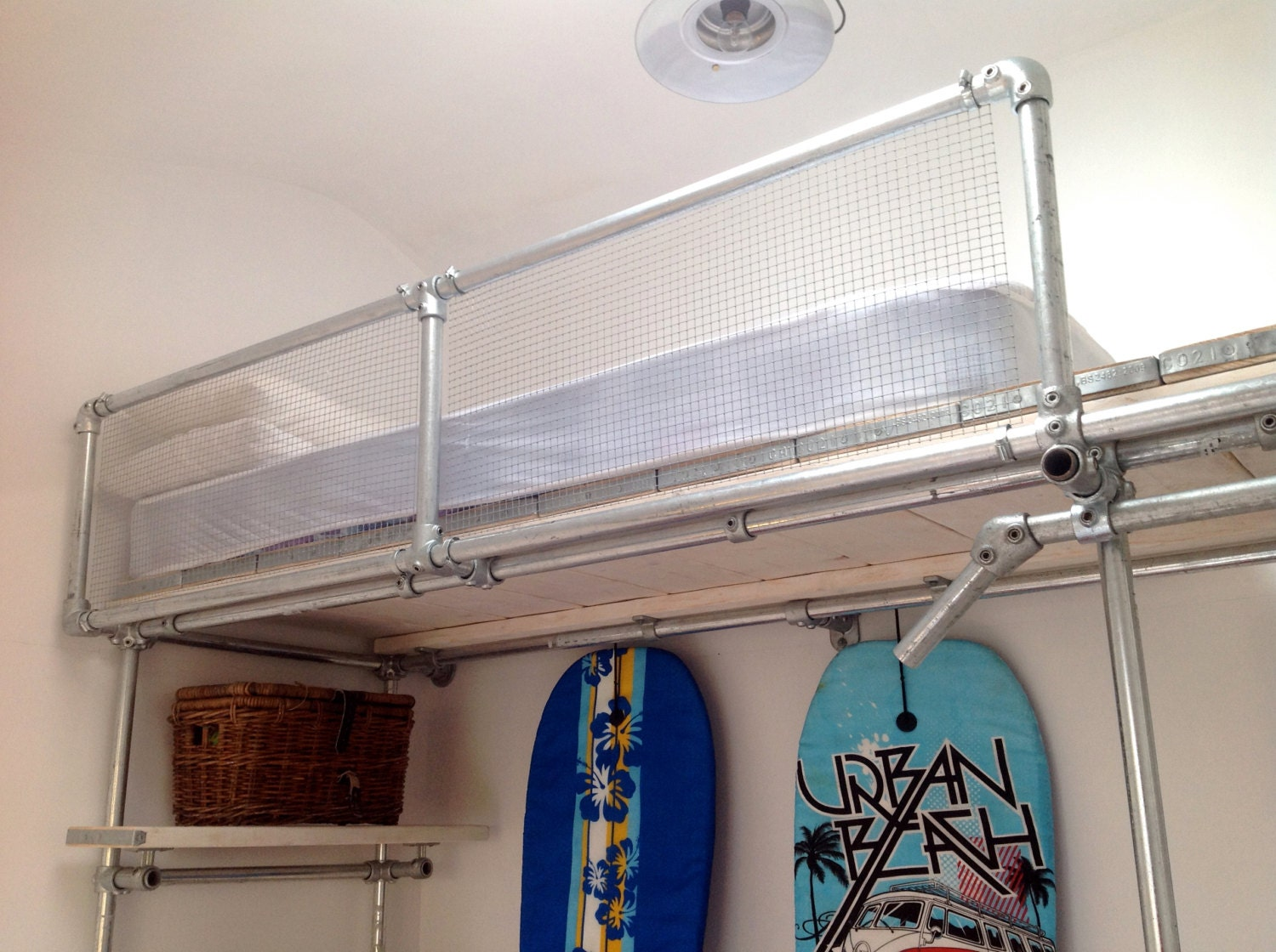 Bunk Bed In Metal Pipe And Scaffold Boards For By Ratandpallet