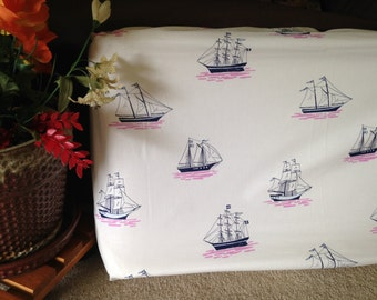 Girl Nautical Changing pad cover- READY TO SHIP