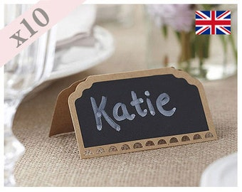 Chalkboard Kraft Place Card With Detailed Edge – Pack Of 10