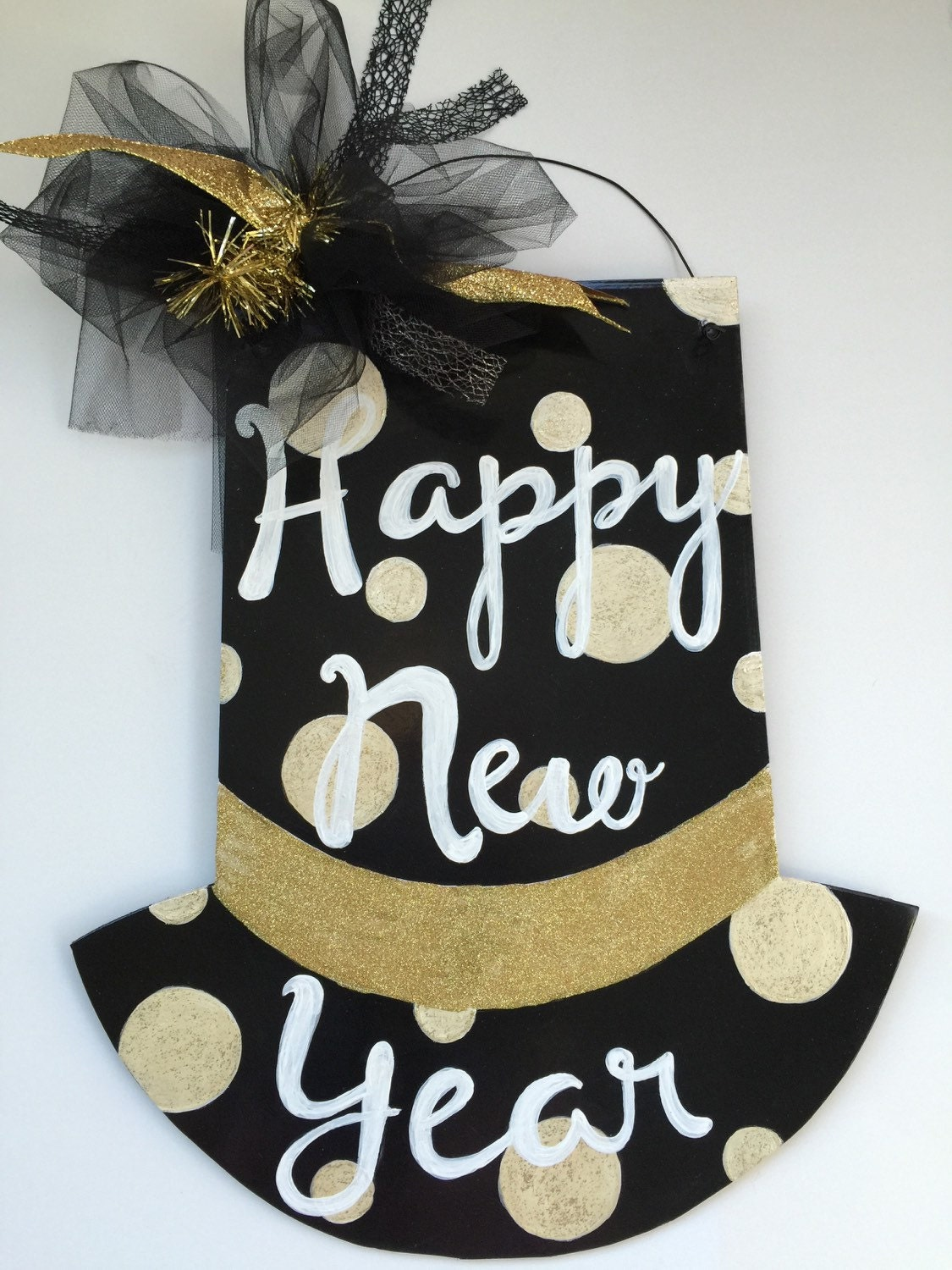Happy New Year Door Hanger Hat