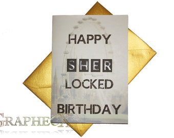 Sherlock inspired personalized card