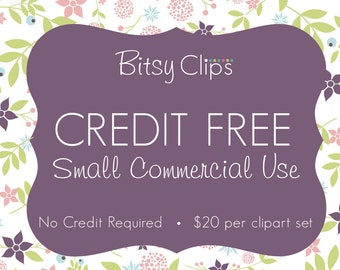 Commercial Use License Clipart No Credit Required Credit Free Price Per Set