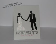 Happily Ever After Wedding Card - Personalized Card - Personalized wedding card - Congratulations - Newlyweds