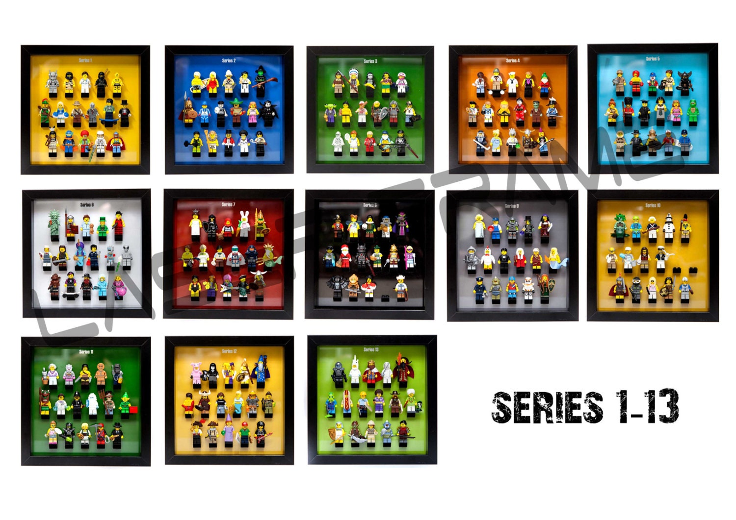 LEGO Frame Mount Inserts to dispaly minifigure by LaserFrame