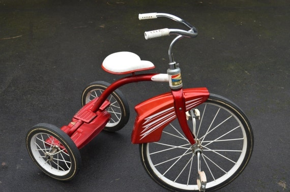 Makers Of Antique Tricycles : Vintage s murray e z step up tricycle retro red and