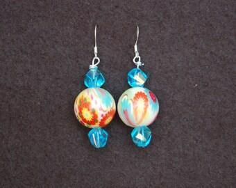 colorful springlike earrings