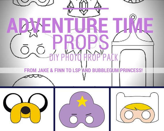 ADVENTURE TIME Masks DIY photo booth printable prop by SweetGIF