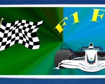 Motor racing mug