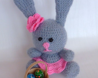 Crochet easter rabbit, chrochet easter bunny, easter basket