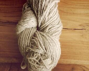 Handspun Corriedale wool, 50 grams, 2 ply